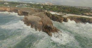 Skalista plaża Boca De Jatka zdjęcie wideo