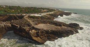 Skalista plaża Boca De Jatka zbiory wideo