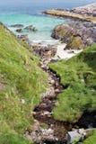 Skalista plaża na wyspie Harris Obraz Royalty Free