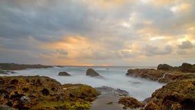 Skalista plaża, Tajwan wybrzeże Fotografia Royalty Free