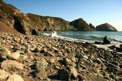 Skalista plaża Fotografia Stock