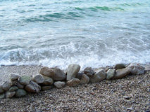 Skalista plaża w Chorwacja fotografia royalty free