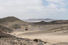 Skalista pustynia przy Skelleton wybrzeżem (Namibia) Obrazy Stock