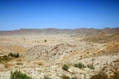 Skalista pustynia w Tunezja Fotografia Stock