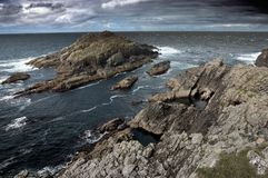 Skalista Wyspa Blisko Seashore Szkocja Obrazy Stock