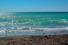 Skaliste plaże Cypr zdjęcia royalty free
