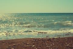 Skaliste plaże Cypr obrazy royalty free