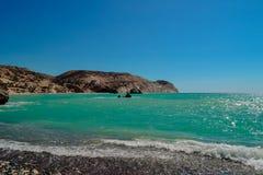 Skaliste plaże Cypr zdjęcie royalty free