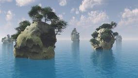 Skaliste wyspy ilustracji