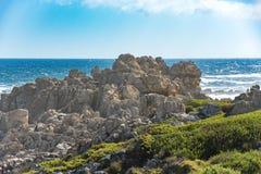 Skalistego brzeg Zachodni przylądek, Południowa Afryka Zdjęcia Stock