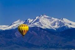 Skalistej góry gorącego powietrza balonu festiwal Obraz Stock