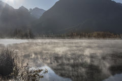 Skalistej góry mgła fotografia stock