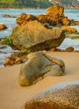 Skalistej linii brzegowej Rockowa formacja Obrazy Stock