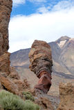 Skalistej scenerii pobliska góra Teide wulkan na Tenerife Obraz Stock