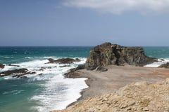 Skalisty Ajuy wybrzeże, Fuerteventura Fotografia Royalty Free
