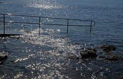 Skalisty brzeg Adriatycki morze zdjęcie stock