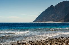 Skalisty brzeg Czerwony morze zdjęcia stock