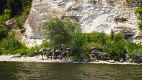 Skalisty brzeg rzeki obrazy stock