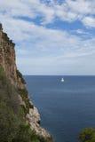skalisty brzegowy Mallorca Obrazy Royalty Free