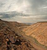 Skalisty faleza plateau Ustyurt Zdjęcie Stock