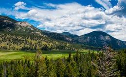 skalisty góry lato Pogodna lato pogoda w Kolorado zdjęcia stock