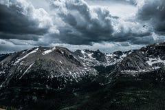 skalisty góry lato Ponura śnieżna pogoda w Kolorado Zdjęcia Royalty Free
