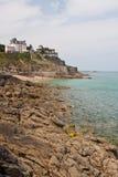 skalisty linii brzegowej dinard Zdjęcia Royalty Free