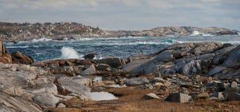 Skalisty linii brzegowej Seascape fotografia stock