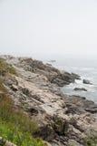Skalisty Maine brzeg Obraz Stock