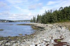 Skalisty Maine wybrzeże Obraz Stock