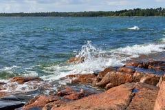 Skalisty morze bałtyckie Zdjęcie Royalty Free