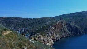 Skalisty, morze krajobraz zbiory wideo