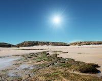 Skalisty Northumberland krajobraz Obrazy Royalty Free