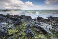 Skalisty Północny Irlandia krajobraz zdjęcie royalty free