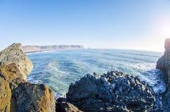 Skalisty południowe wybrzeże Iceland zdjęcia royalty free