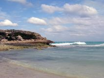 Skalisty punkt, Playa Las Coloradas, Kuba Zdjęcie Stock
