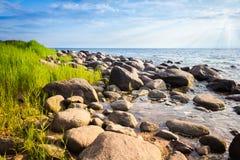 skalisty seacoast Fotografia Royalty Free