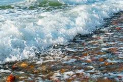 Skalisty seashore, kamienie na seashore obrazy royalty free
