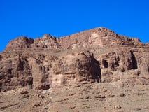 Skalisty skłon TODGHA wąwozu jaru krajobraz w MAROKO, wschodnia część Wysoki atlant gór pasmo przy Dades rzekami obrazy royalty free