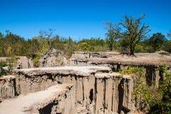 Skalisty spieczony ziemia krajobraz obrazy royalty free