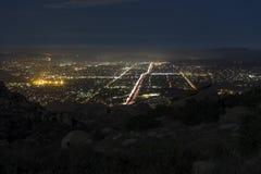 Skalisty Szczytowy noc widok - Południowy Kalifornia Zdjęcie Royalty Free