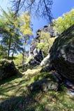 Skalisty teren otaczający greenery Obrazy Royalty Free