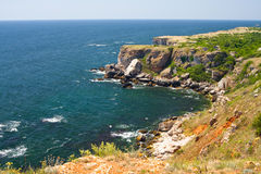 Skalisty wybrzeże Czarny morze obrazy royalty free