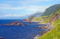 Skalisty wybrzeże na letnim dniu zdjęcia stock