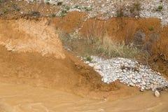 Skalisty wybrzeże na rzece zdjęcie royalty free