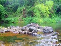 Skalisty wybrzeże rzeka w Tajlandia obrazy royalty free