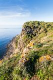 Skalisty wybrzeże Sardinia, Włochy zdjęcia stock