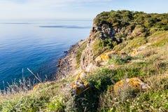Skalisty wybrzeże Sardinia, Włochy fotografia royalty free