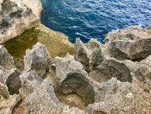 Skalisty wybrzeże w oceanie zdjęcie royalty free