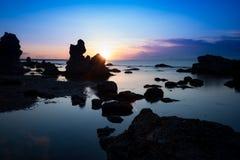 Skalisty wybrzeże Folhammar, Gotland Fotografia Royalty Free